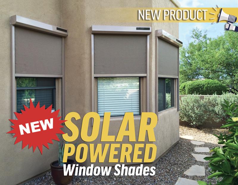 Solar Powered Window Shades